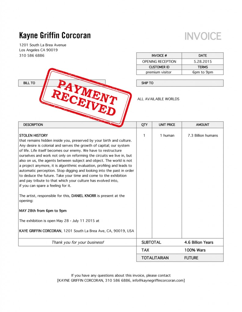DK invitation_Invoice - KGK-show Cancelled-Payment recieved
