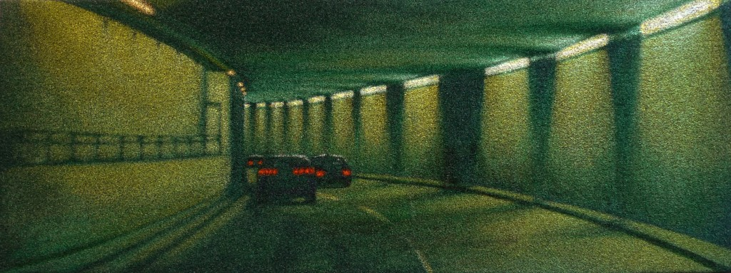 JDickson 04-13 Green Tunnel oil-astro 40x106