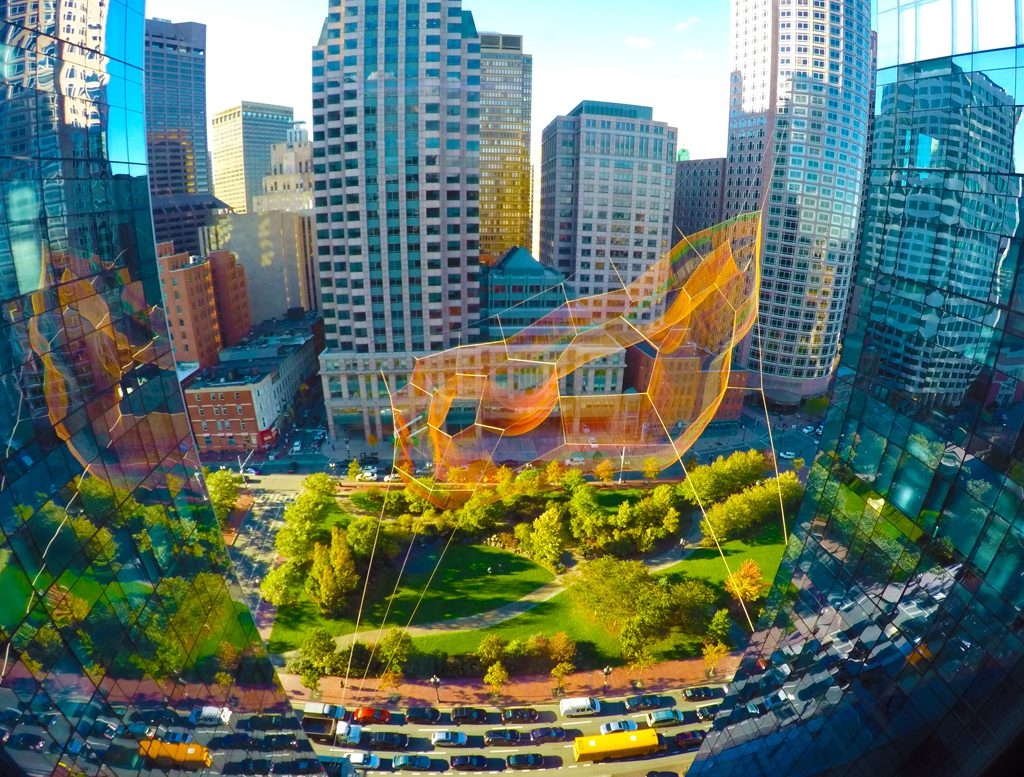 As If It Were Already Here, Boston, MA, 2015 Photo: Bruce Petschek, Courtesy Studio Echelman